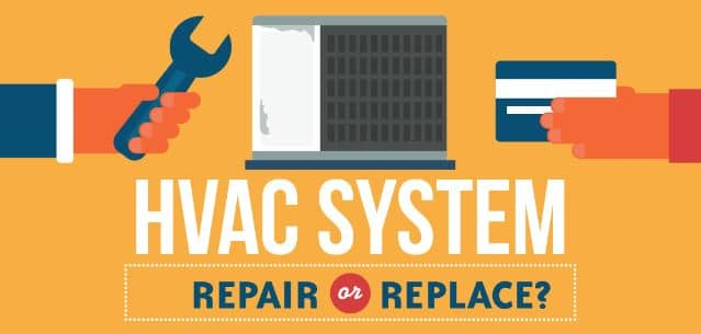 Infographic Hvac System Replace Or Repair