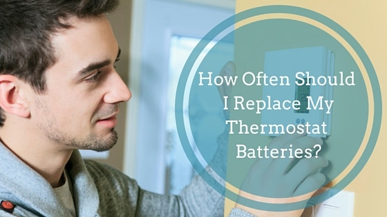 replace thermostat batteries