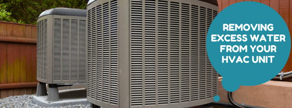 removing excess water from ac unit