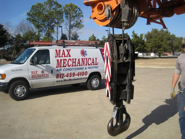 Crave and van used for commercial HVAC service and installation